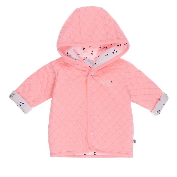 Roze Babykleding.Feetje Jasje Capuchon Cherry Sweet Roze Feetje Babykleding