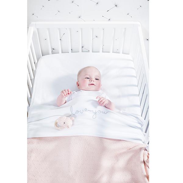 Baby Deken Jollein.Jollein Ledikant Deken 100x150cm Soft Knit Creamy Peach