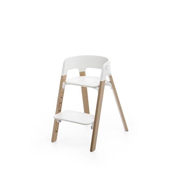 Kinderstoel Baby 6 Maanden.Stokke Steps White Kinderstoel Eiken Naturel Stokke Kinderstoel